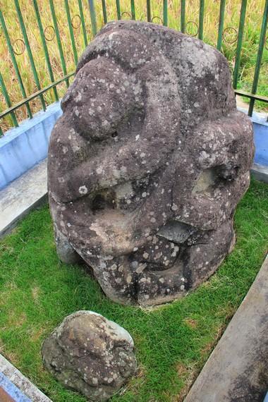 Situs manusia dililit ular yang terdapat di Desa Tanjung Ato, Pagaralam, Palembang