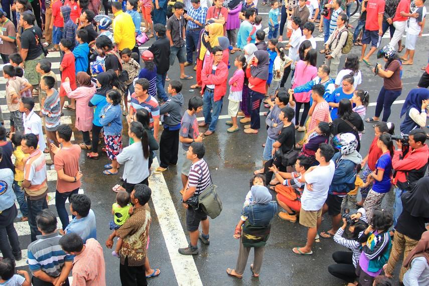 Prosesi Tabuik Naik Pangkek selalu menyedot perhatian masyarakat Kota Pariaman maupun di luar Pariaman