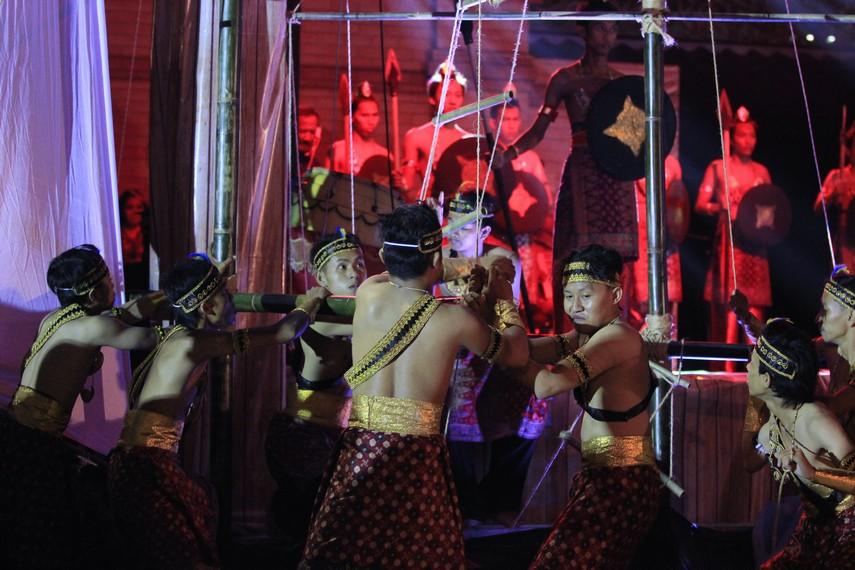 Teatrikal pelayaran yang dilakukan oleh kerajaan Sriwijaya pada zaman keemasannya
