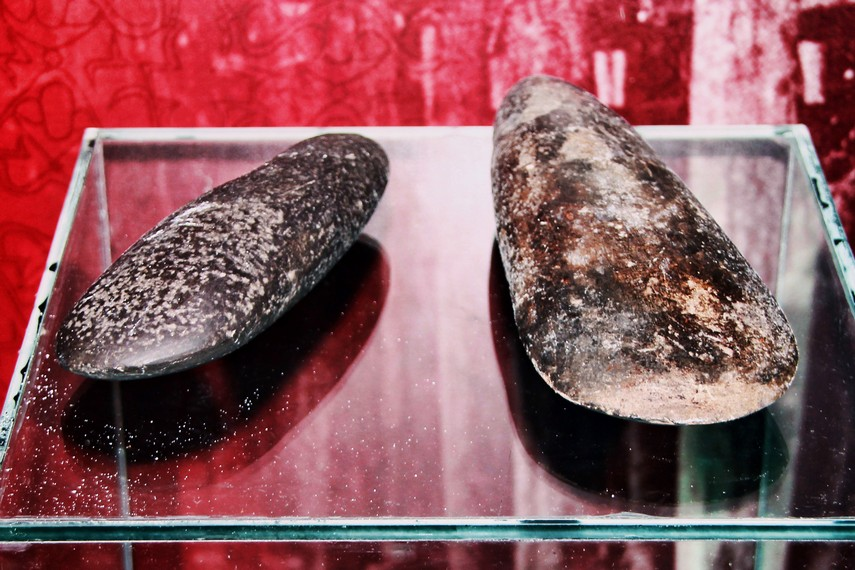 Kapak batu yang biasa digunakan oleh masyarakat Suku Asmat untuk membuka batang pohon sagu