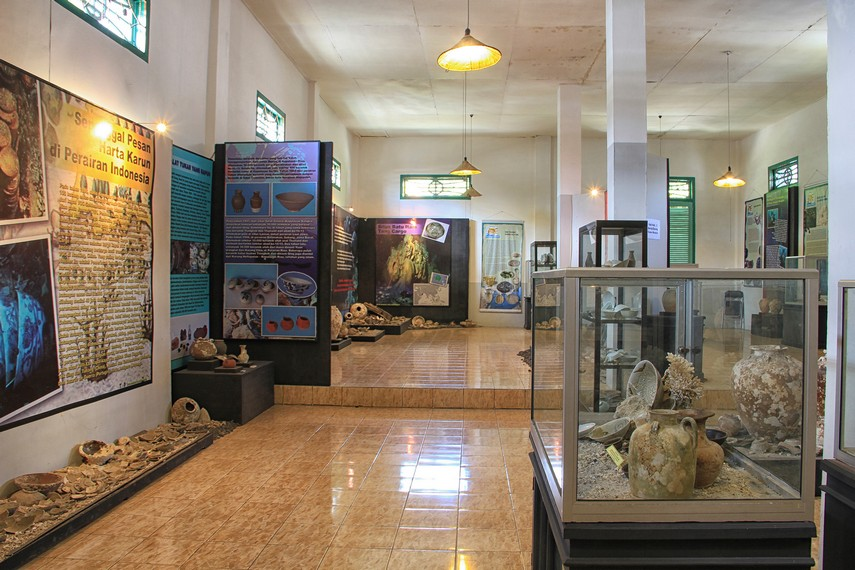 Ruang khusus di Museum Tanjung Pandan yang menyimpan harta karun yang berada di perairan bawah laut Belitung