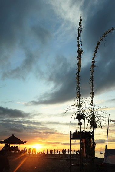 Seperti juga pantai-pantai lainnya di Bali, Sanur menjadi tempat pelaksanaan ritual Melasti menjelang hari raya Nyepi