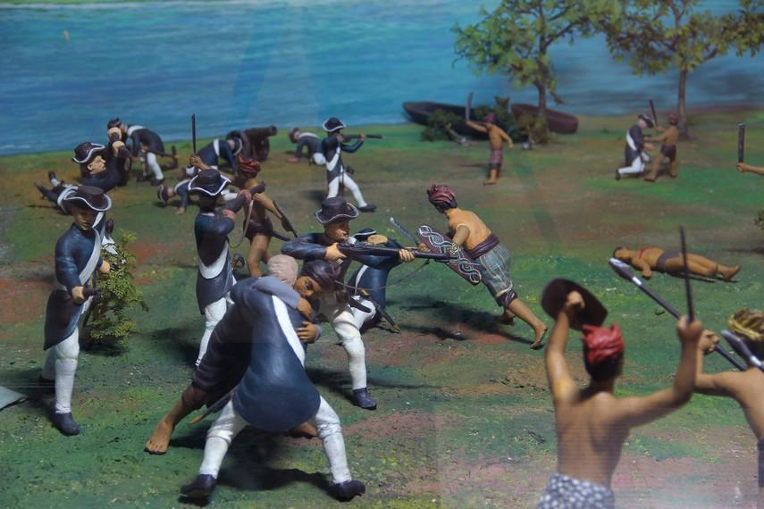 Diorama salah satu perang melawan penjajahan bisa dilihat di salah satu ruang Museum Keprajuritan