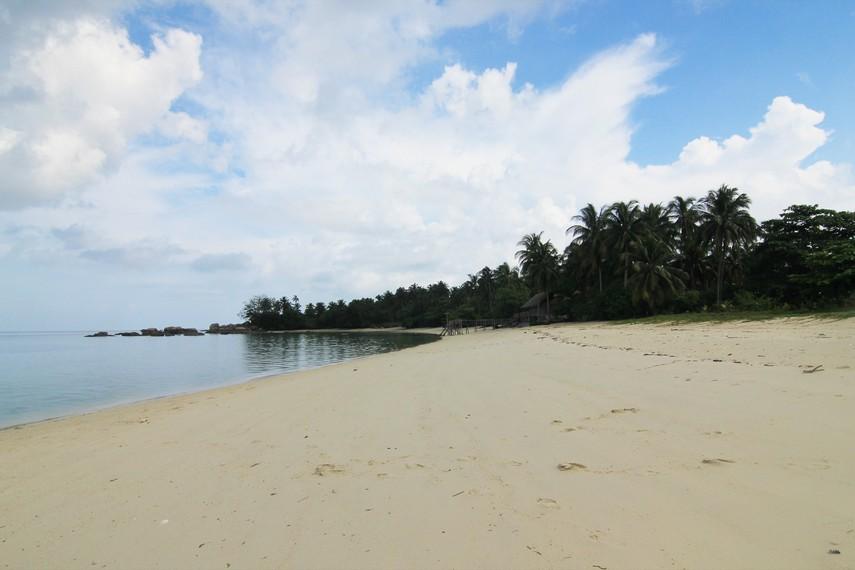 Pengunjung dapat berjalan-jalan mengelilingi Pulau Burung yang ditumbuhi pepohonan rindang di sekelilingnya