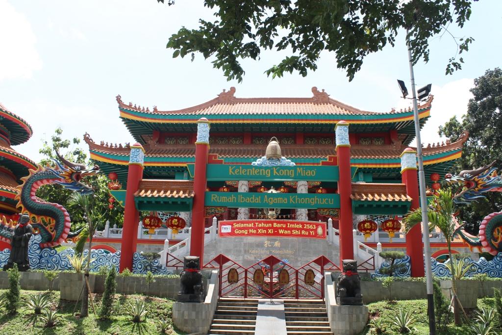 Klenteng Kong Miao yang berdiri megah di Taman Mini Indonesia Indah