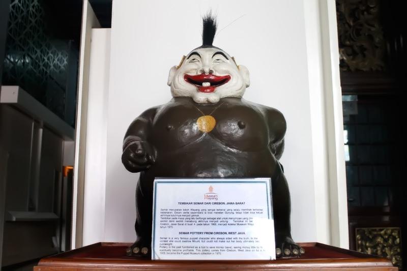 Salah satu koleksi Museum Wayang, patung Semar