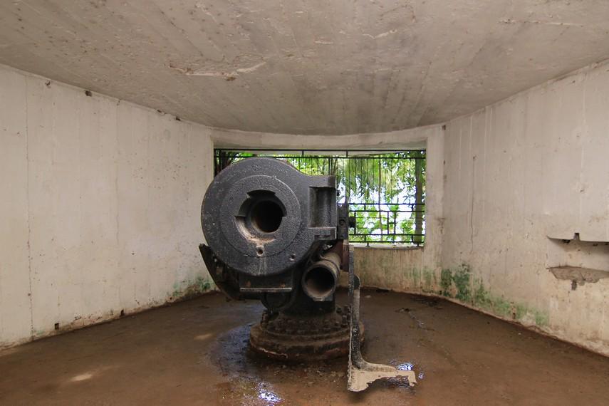 Meriam ini merupakan andalan tetara Jepang untuk mempertahankan wilayahnya
