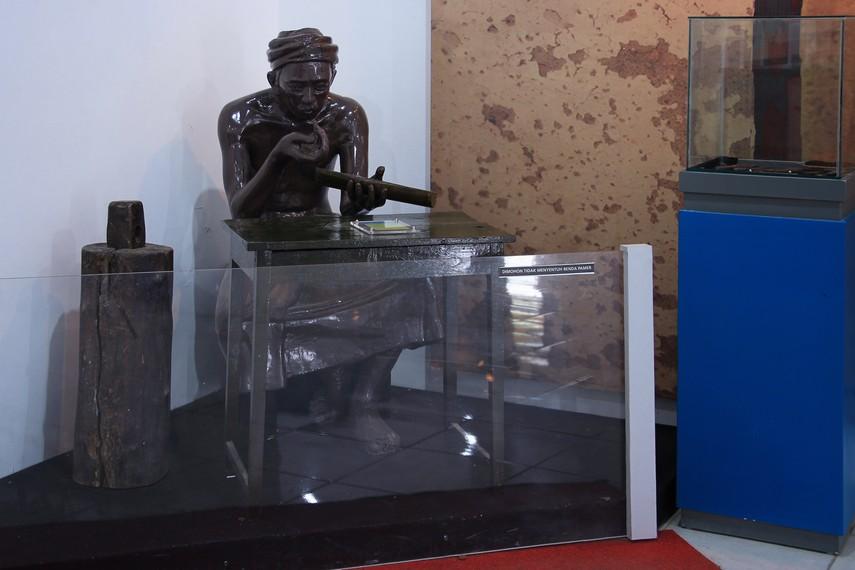 Patung-patung yang menjadi koleksi Museum Situs Kepurbakalaan Banten Lama bisa pengunjung lihat di salah satu sudut ruangan