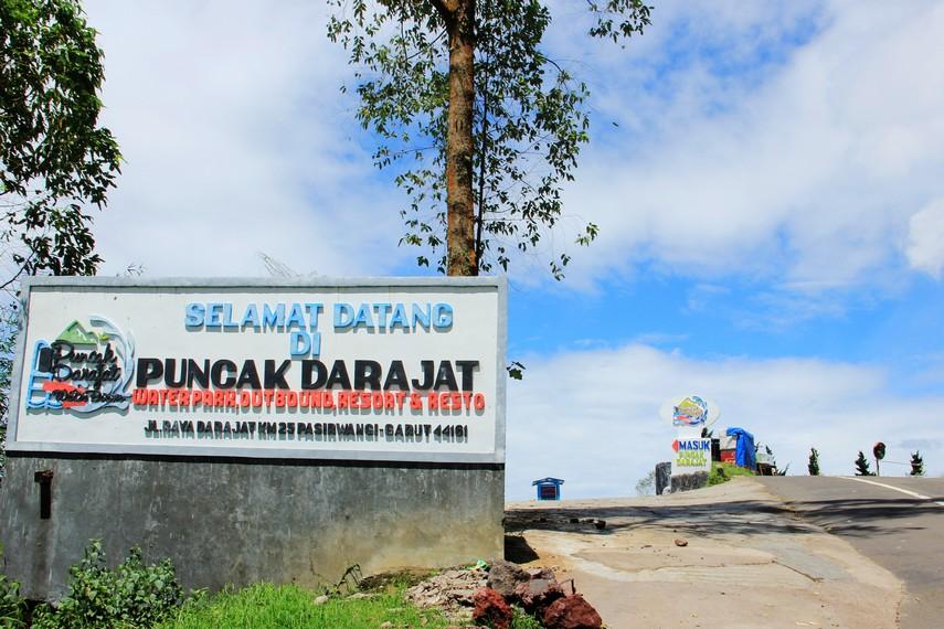 Kawasan Puncak Darajat berada di ketinggian 1.800 mdpl