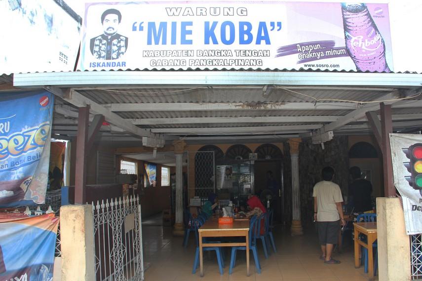 Salah satu kedai mie koba di Jalan Balai, Pangkalpinang, yang selalu ramai dikunjungi pembeli