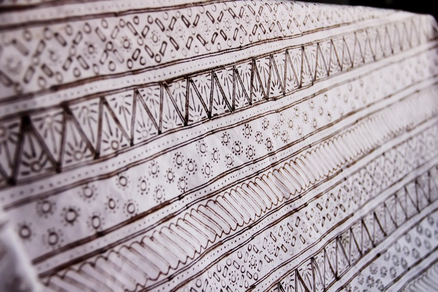 Sketsa motif yang menjadi dasar pembuatan batik garutan