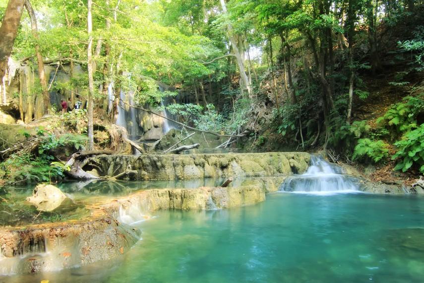 Air Terjun Mata Jitu memiliki empat undak dan tujuh kolam