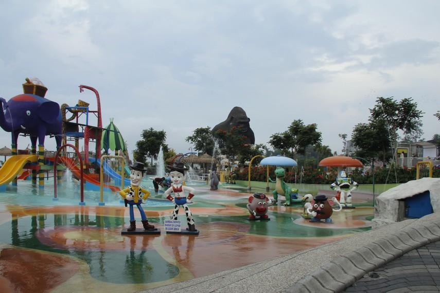 Arena bermain air untuk anak-anak juga tersedia di Batu Secret Zoo