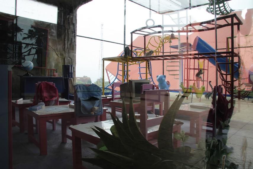 Arena bermain untuk anak-anak yang disediakan pihak pengelola Batu Secret Zoo