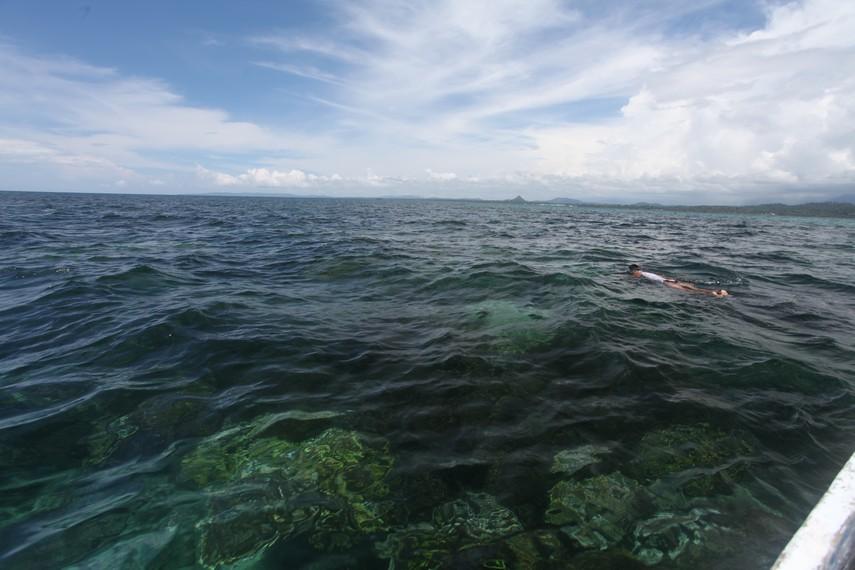 Bawah laut di Sawai yang dapat terlihat dari permukaan