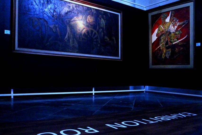Berbagai lukisan karya maestro lukis Indonesia dan dunia terpajang di Museum Seni Rupa dan Keramik