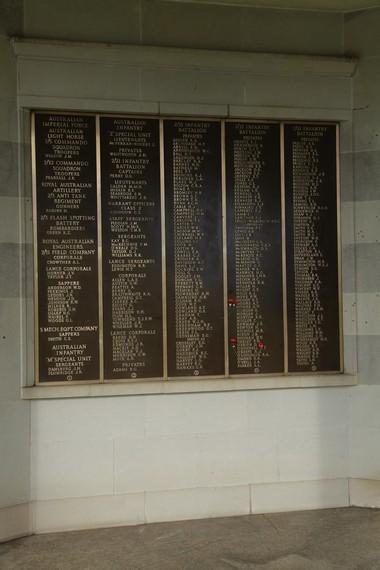 Daftar nama para tentara Australia yang dimakamkan di pemakaman ini