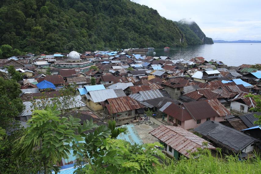 Desa Sawai dilihat dari ketinggian