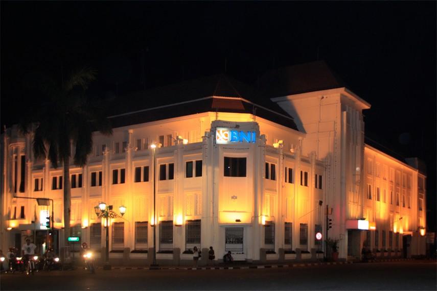 Gedung BNI 46, salah satu bangunan di kawasan Kota Tua yang masih mempertahankan bentuk aslinya