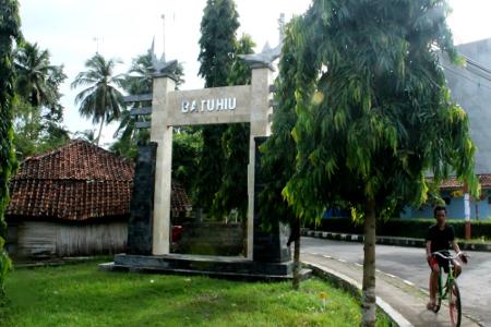 Gerbang masuk Batu Hiu di Jalan Pangandaran-Cijulang