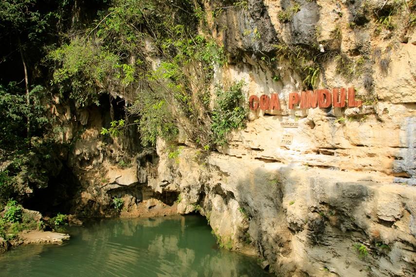 Gua Pindul Cave Tubing terletak di Dusun Gelaran, Desa Bejiharjo, Kabupaten Gunung Kidul