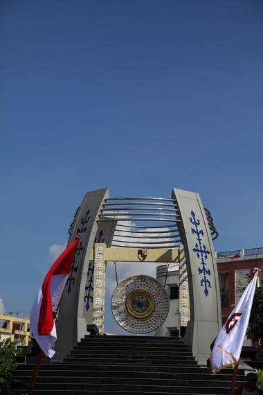 Gong Perdamaian Kota Ambon yang megah, indah dan penuh kedamaian