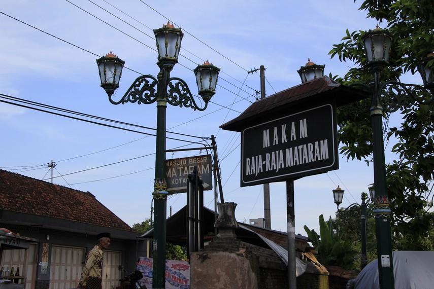 Halaman depan pemakaman para pendiri Kerajaan Mataram di Kotagede