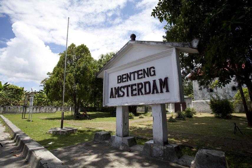Halaman depan situs Benteng Amsterdam