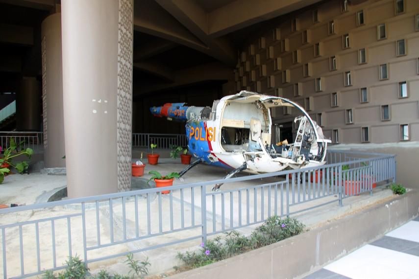 Helikopter yang menjadi korban terjangan Tsunami
