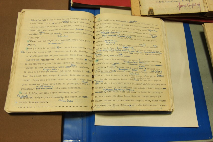 Naskah asli karya sastrawan YB Mangunwijaya yang menjadi salah satu koleksi PDS HB Jassin