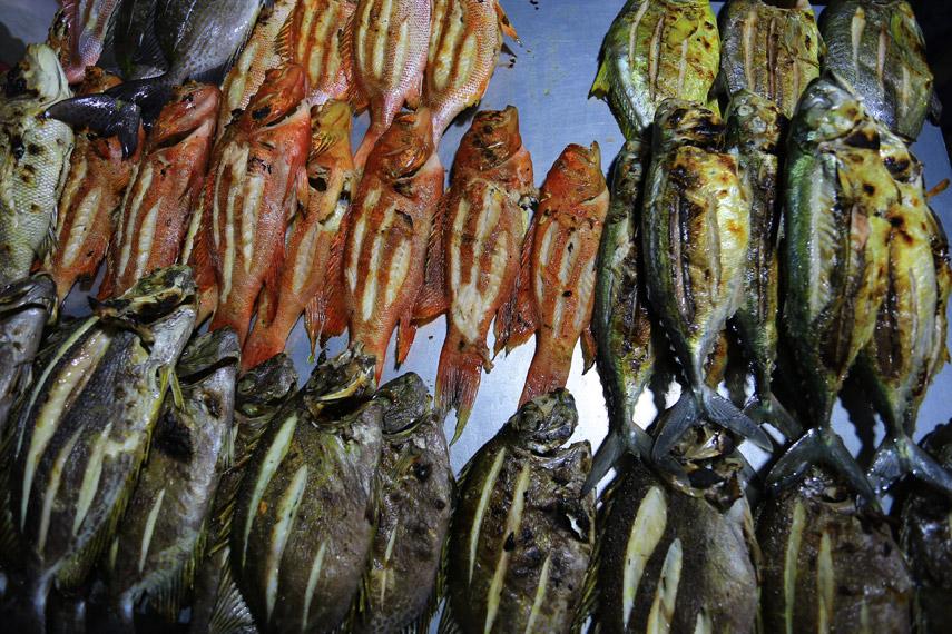 Ikan Bobara dan ikan-ikan lain yang sudah siap disantap