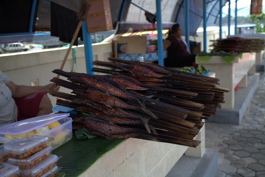 Ikan asar yang sudah siap dijual