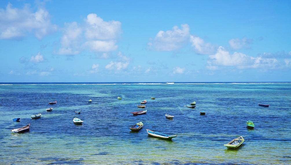 Jajaran kapal nelayan yang bersandar di sekitar Pantai Nemberala