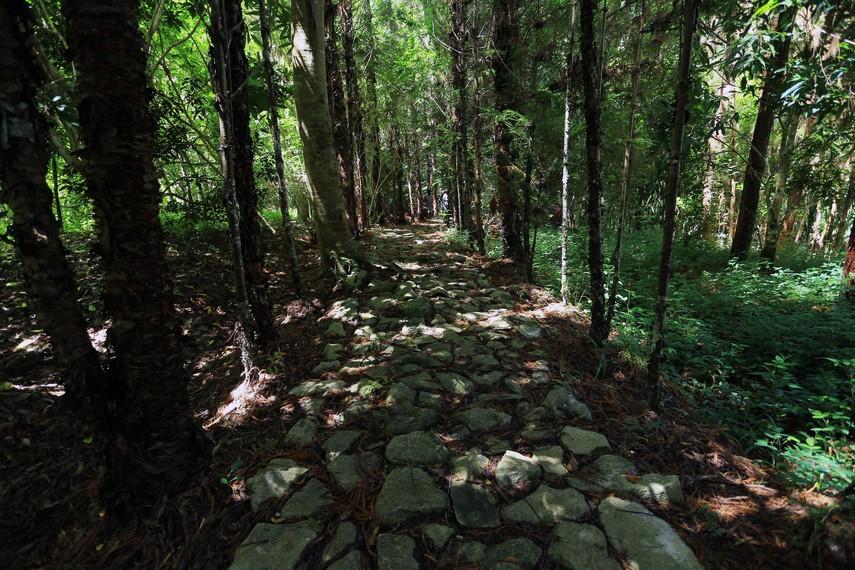 Jalan setapak menuju Goa Lokale