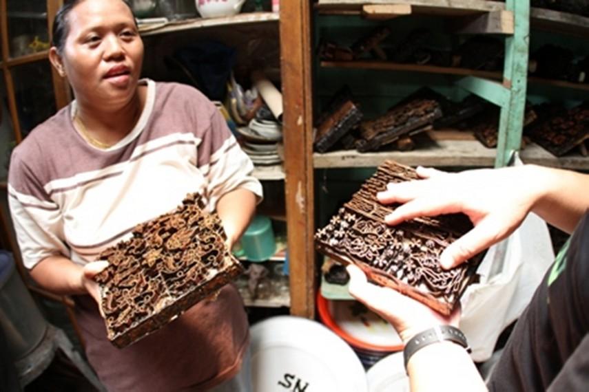 Cetakan motif Batik Jambi
