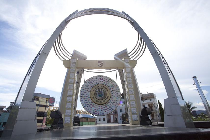 Kemegahan Gong yang terdapat di pusat Kota Ambon
