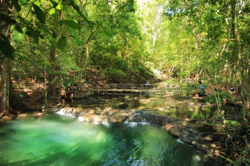 Kolam utama Air Terjun Mata Jitu yang tidak boleh digunakan untuk berenang