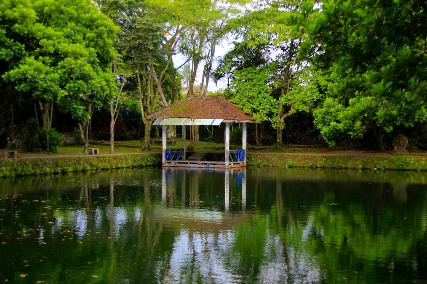Kolam yang disediakan pengelola untuk pengunjung bersantai sambil menikmati salak