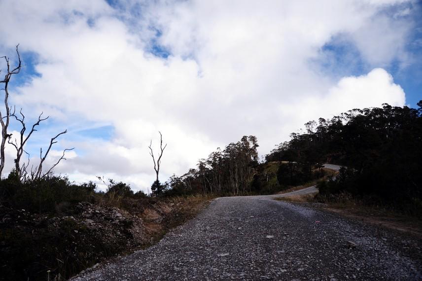 Kondisi jalan berbatu yang harus dilalui ketika menuju Habema