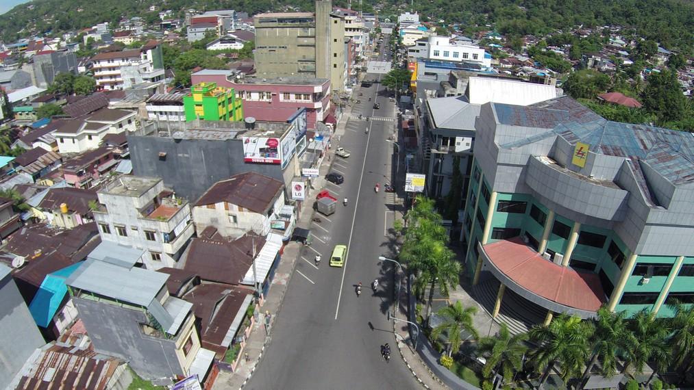 Kota Ambon tampak dari atas