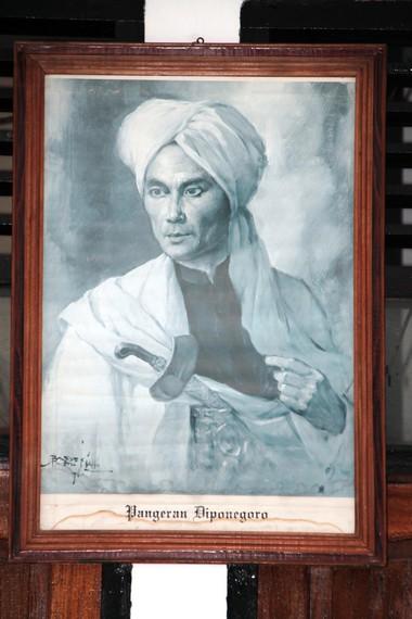 Lukisan Pangeran Diponegoro yang ada disekitar makam