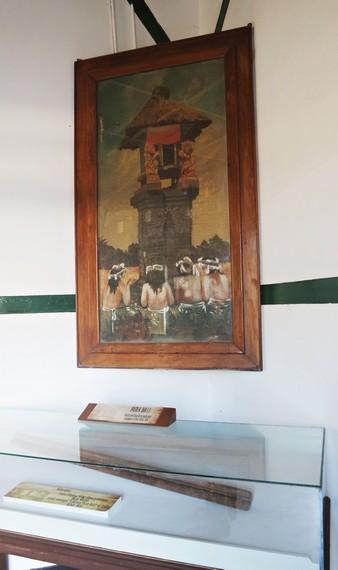 Lukisan Pura Bali yang dibuat Bung Karno pada tahun 1935
