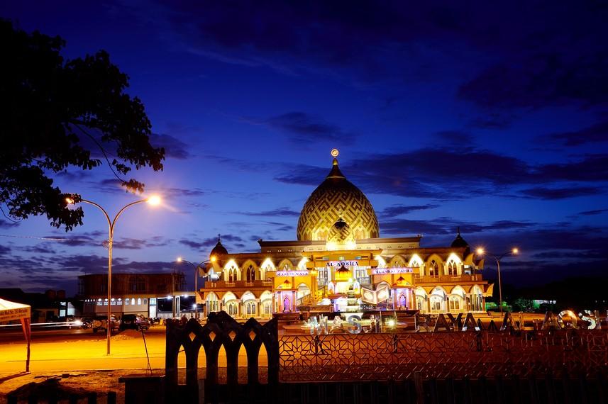 Masjid Raya Al Aqsha salah satu masjid terbesar di Kota Merauke