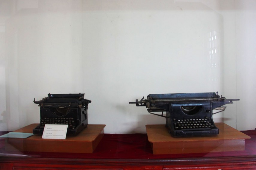 Mesin tik yang digunakan pada masa penjajahan masih terawat dengan baik di Museum Perjuangan Bogor