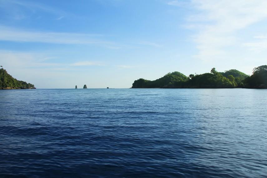 Nama Pantai Sendang Biru diambil dari sumber mata air yang biasa disebut Sendang