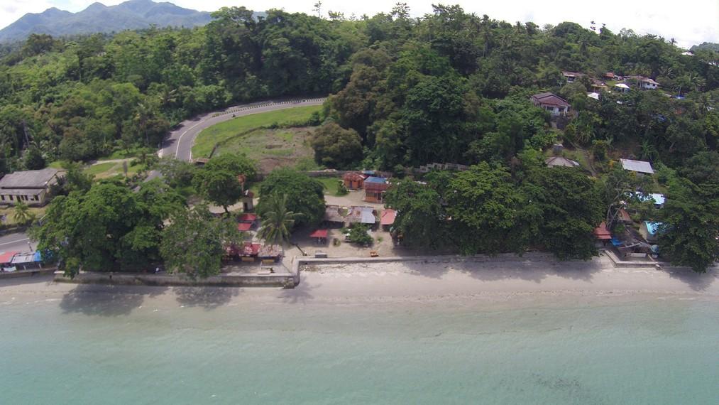 Pantai Natsepa dari ketinggian