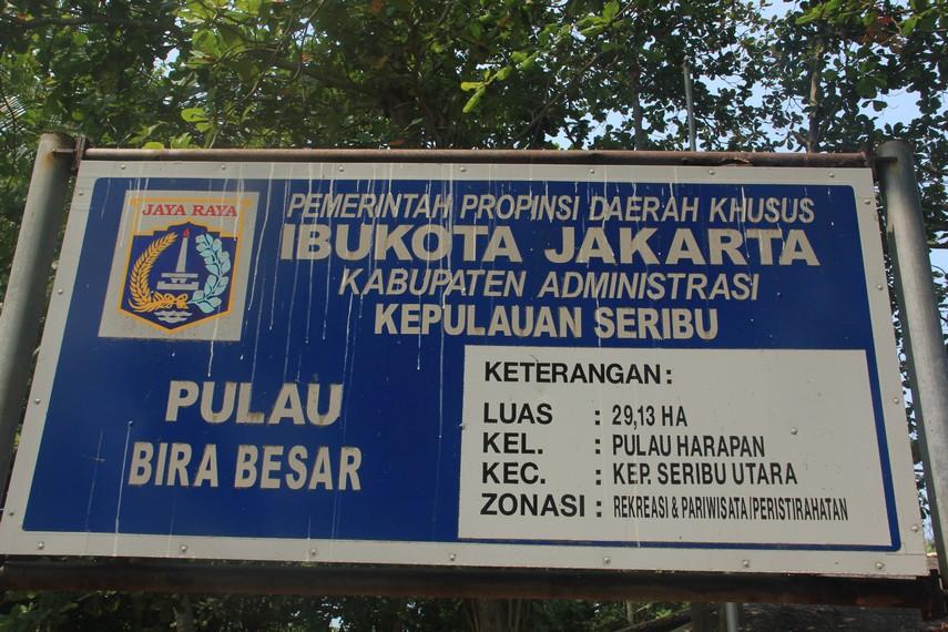 Pulau Bira menjadi bagian Kabupaten Administrasi Kepulauan Seribu