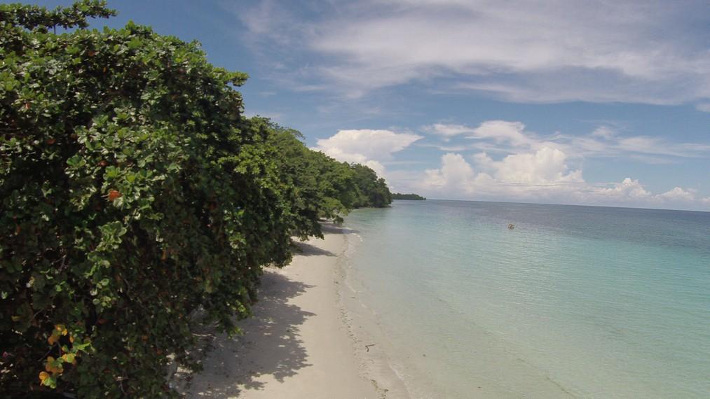 Pemandangan pesisir Pantai Natsepa