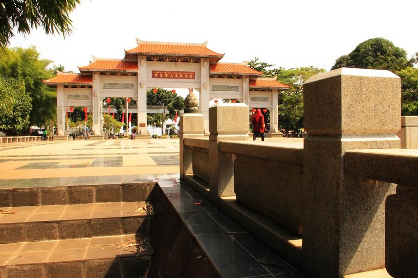 Pembangunan anjungan ini dimulai pada tahun 2004 atas prakarsa Yayasan Harapan Kita