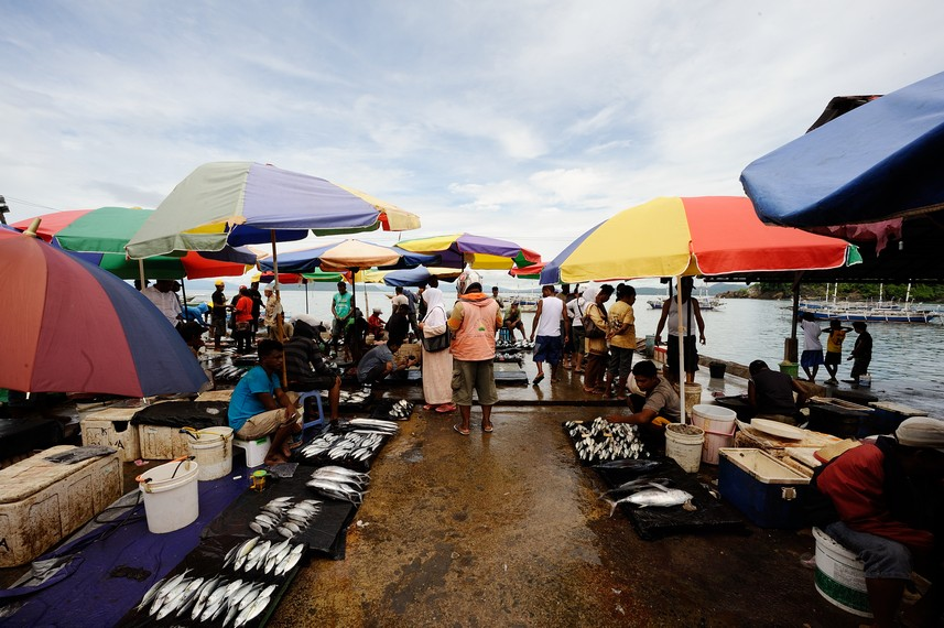 Penampakan Pasar Ikan Hamadi